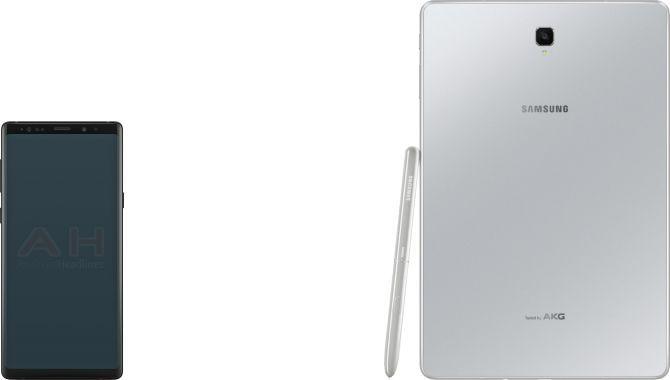 Billeder af Samsung Galaxy Note 9 og Galaxy Tab S4 lækket