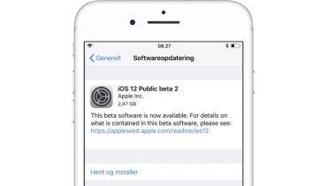 iOS 12 offentlig beta 2 ude til iPhone og iPad