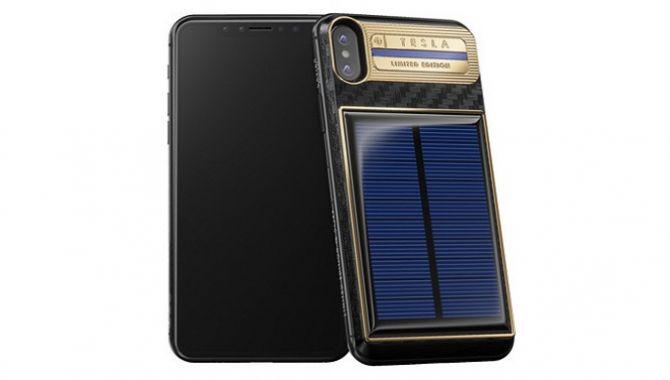 Russisk firma lancerer iPhone X med solcellepanel