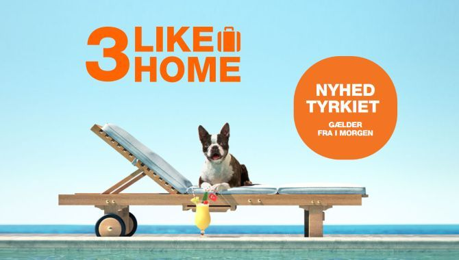 3 åbner op for roaming med 3LikeHome i Tyrkiet