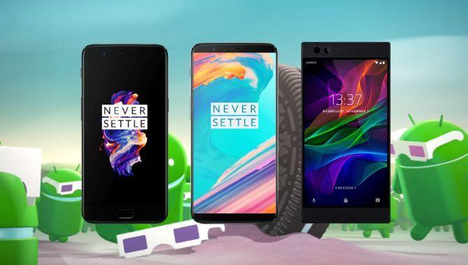 Android 8.1 Oreo ruller ud til OnePlus 5, 5T og Razer Phone