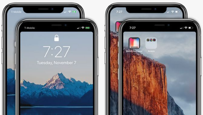 Ny app til iPhone X skjuler skærmens udskæring
