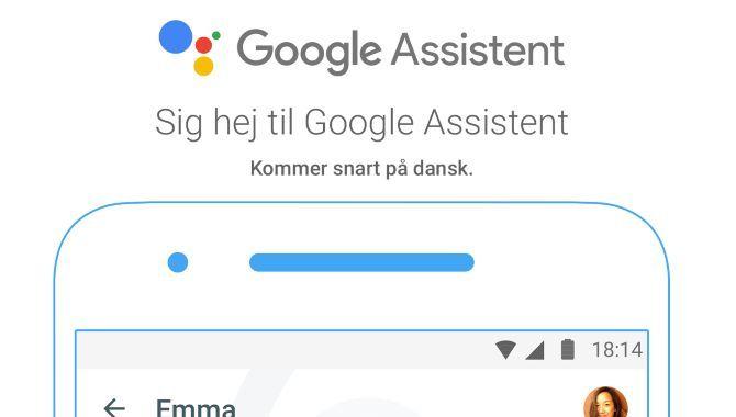 Google Assistent kommer snart til Danmark
