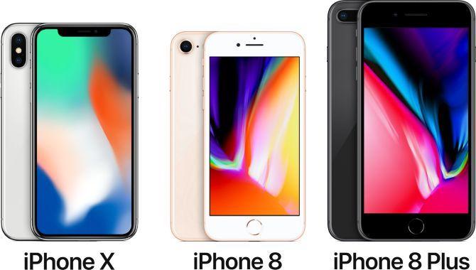 Her er forskellen mellem iPhone X, iPhone 8 og iPhone 8 Plus