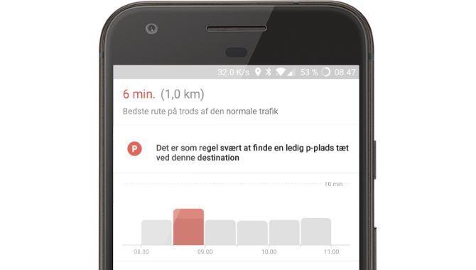 Nu viser Google Maps parkeringsforholdene i København