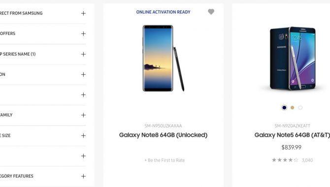 Hovsa! Samsung offentliggør Galaxy Note 8 på dets webshop