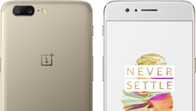 OnePlus 5 lanceret i limited edition-farven Soft Gold