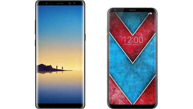 Avis: Samsung Galaxy Note 8 og LG V30 i butikkerne samme dag