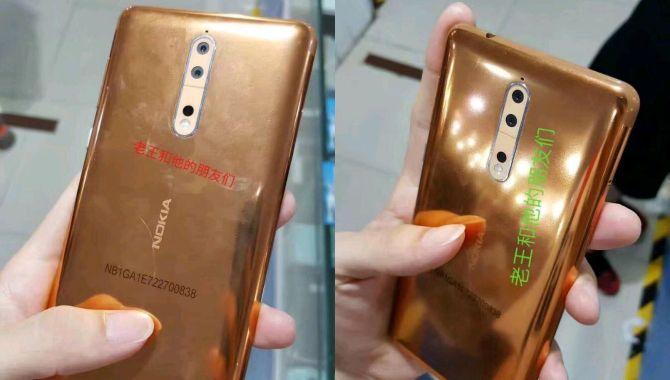 Billeder af Nokia 8 i usædvanlig kobberfarve lækket