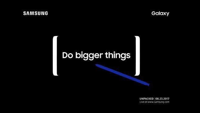 Samsung inviterer til Galaxy Note 8-event den 23. august