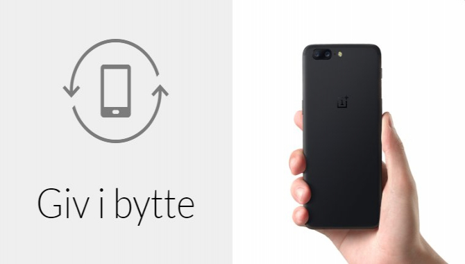 Byt din gamle smartphone til en OnePlus 5 og spar penge
