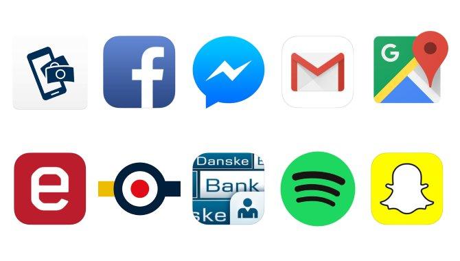 Disse 10 apps vil danskerne mindst undvære