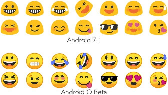 Googles emojis får helt nyt design i Android O