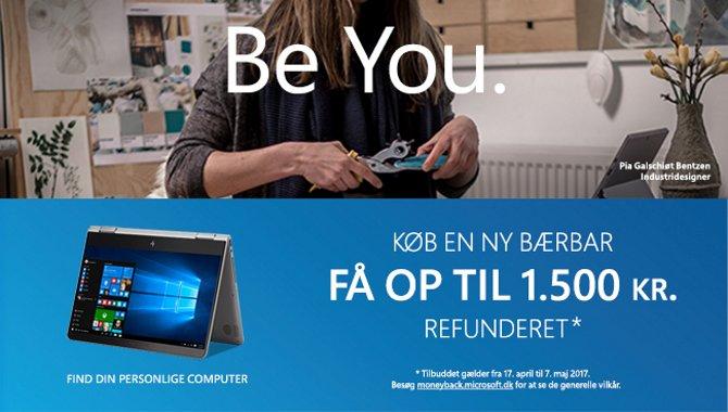 Få op til 1500 kroner refunderet ved køb af Windows-bærbar [DEAL]