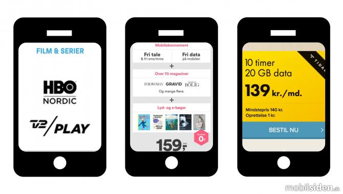 De tre bedste mobilabonnementer med underholdning [TIP]