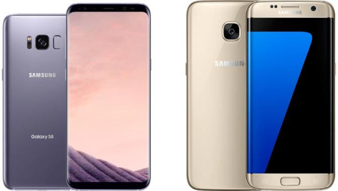 Sammenligning: Samsung Galaxy S8 vs. Galaxy S7 edge
