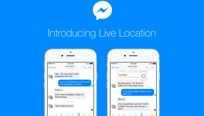 Messenger Live Location: Del din placering i real time
