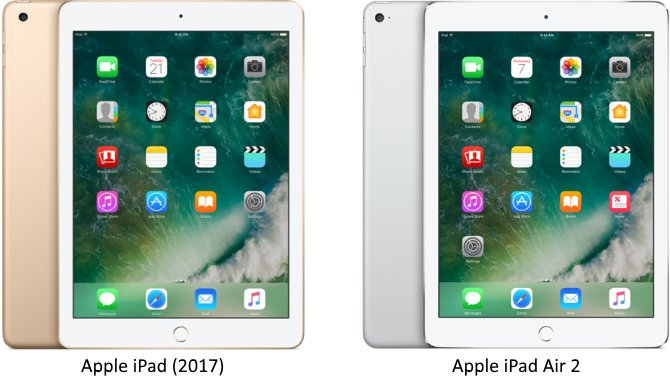Sammenligning: iPad 9,7″ (2017) vs. iPad Air 2: Her er forskellen
