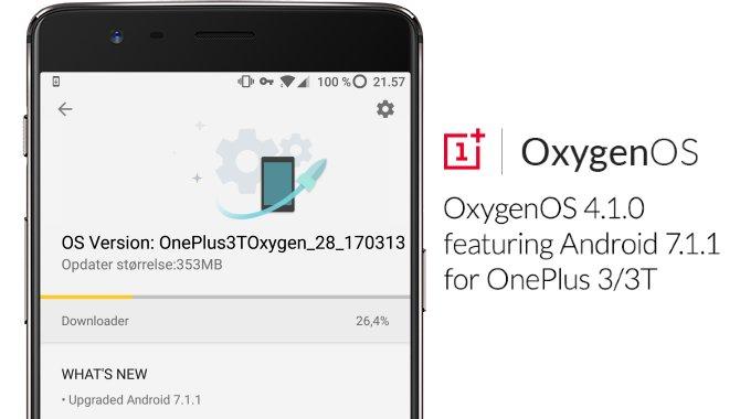 Nu kan du opdatere OnePlus 3 og 3T til Android 7.1.1 Nougat