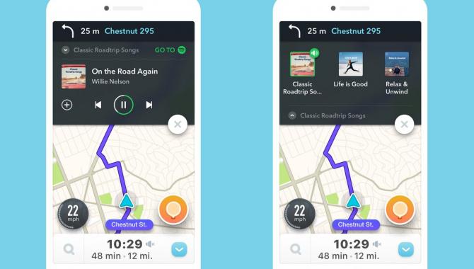 Spotify og Waze forener musik og navigation i samme app