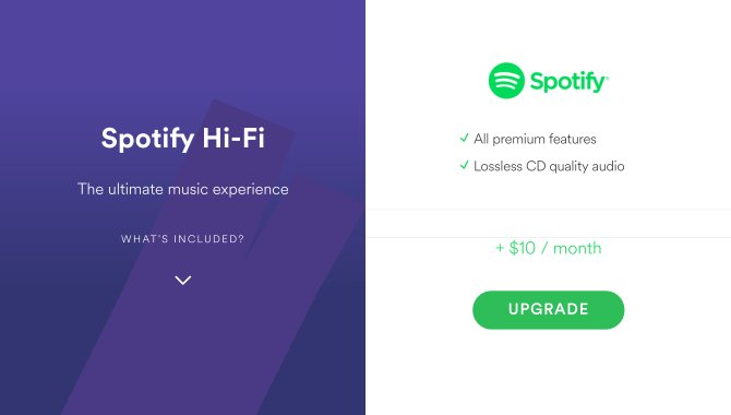 Spotify tilbyder Hi-Fi-lydkvalitet – hvis du betaler ekstra