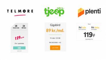 Guide: De tre bedste abonnementer på hvert sit netværk