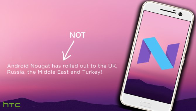 Android 7.0 Nougat til HTC 10 bremses og udskydes til februar