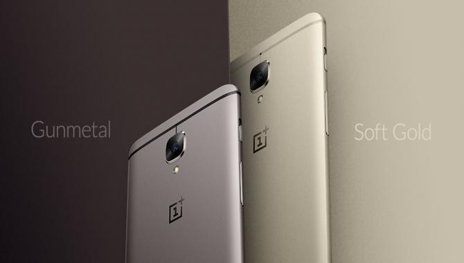Nu kan du købe OnePlus 3T i farven 'Soft Gold'