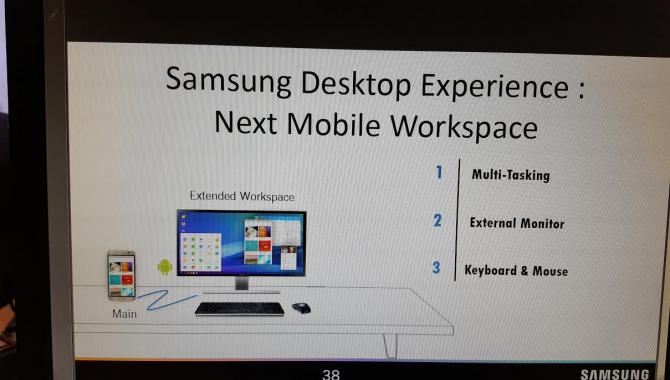 Samsung Galaxy S8 kan virke som en PC