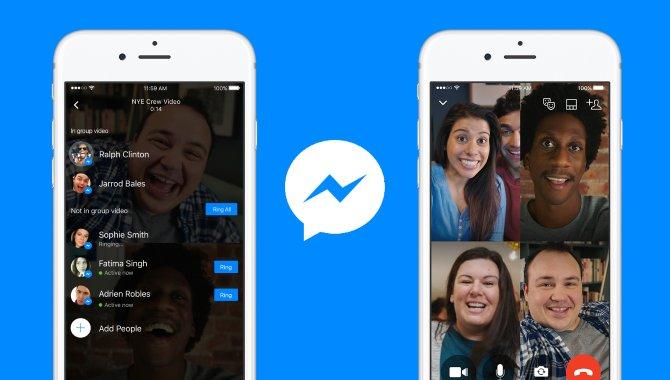 Nu kan du videochatte i grupper med Messenger