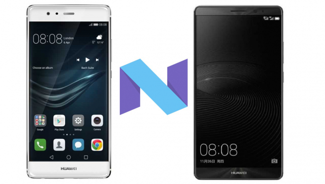 Android Nougat ude til kinesiske Huawei P9 og Mate 8'ere