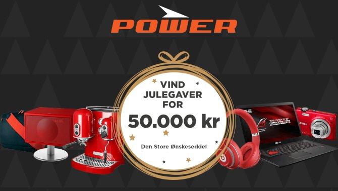 Vind julegaver for 50.000 kroner hos POWER