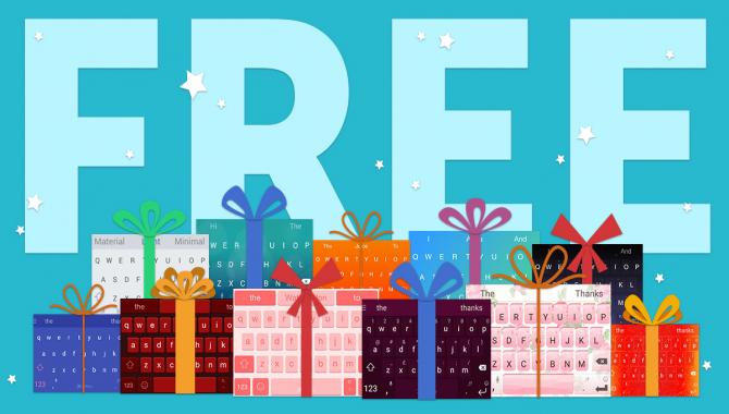 Julegave fra Swiftkey: alle vores temaer er nu gratis