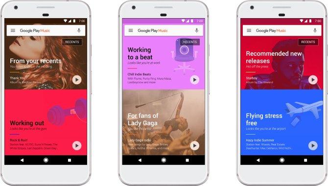 Google Play Musik får stor overhaling af designet
