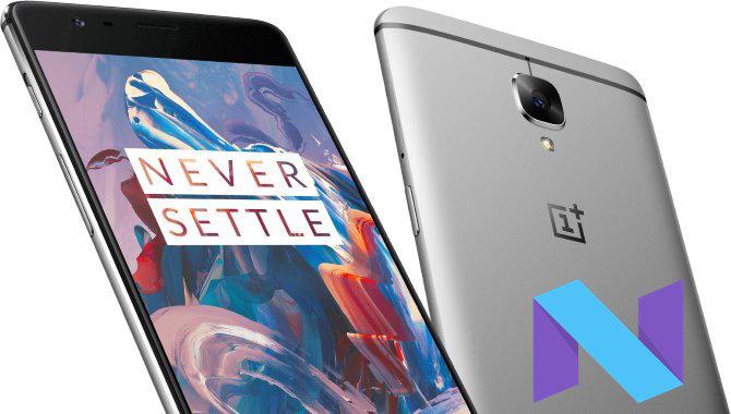 OnePlus 3 får Android 7.0 Nougat inden nytår