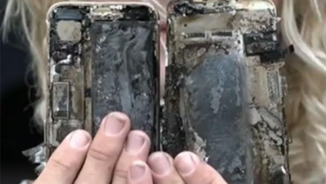 iPhone 7 går i brand og ødelægger bil