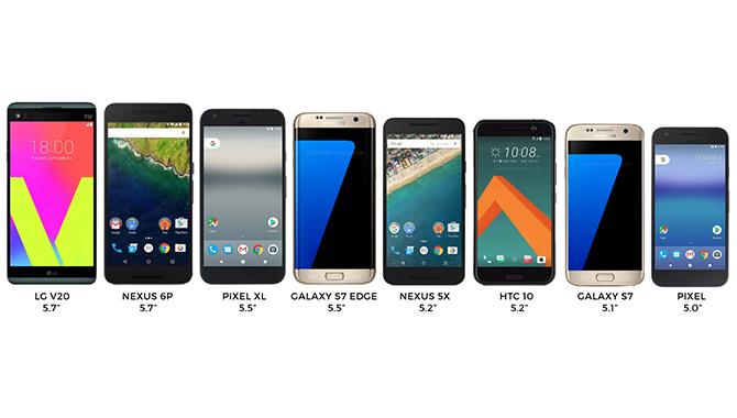 Se Googles Pixel-familie målt op mod konkurrenterne