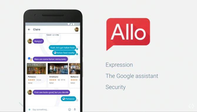 Googles nye beskedapp Allo udgives på onsdag