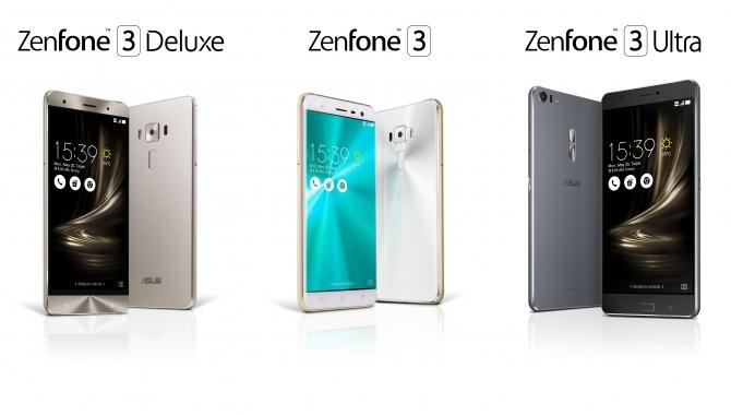 Asus Zenfone 3 – ny trio af stærke, prisvenlige smartphone
