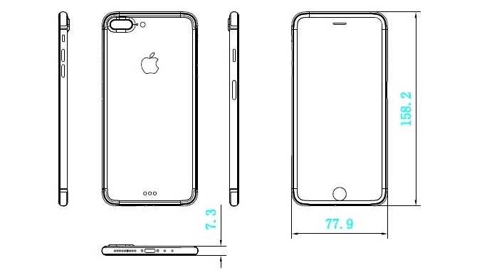 Ny tegning: iPhone 7 bliver tykkere end iPhone 6s
