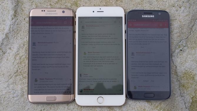 Er din smartphones skærm god nok i solen? [AFSTEMNING]