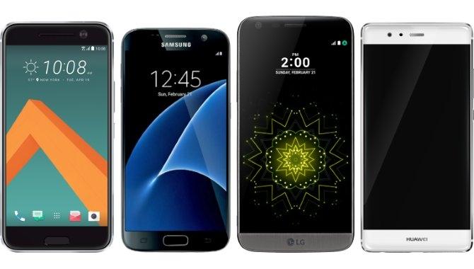 Sammenligning: HTC 10, Samsung Galaxy S7, LG G5 og Huawei P9
