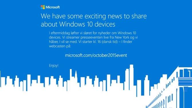Sådan følger du med i Microsofts Windows 10-event i dag