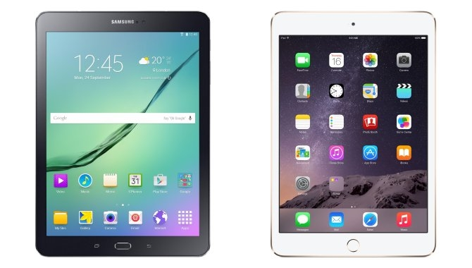 Sammenligning: Apple iPad Air 2 mod Samsung Galaxy Tab S2