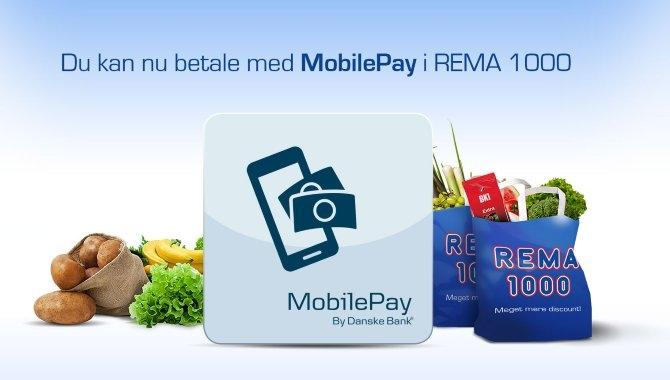 Betal med MobilePay i alle 261 Rema 1000-butikker