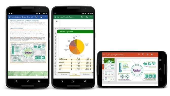 Microsoft udgiver Office-pakken til Android-mobiler