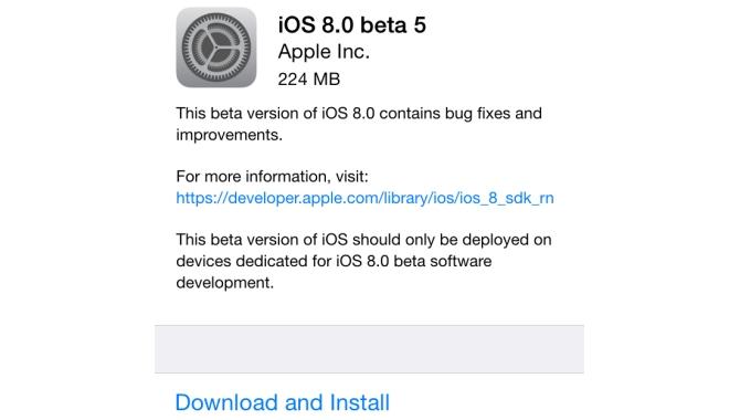 Femte BETA af iOS 8 klar til udviklerne
