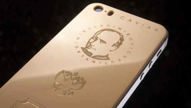 Putin i guld til iPhone