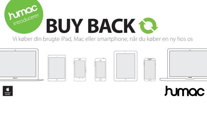 Idag starter BUY BACK-konceptet hos Humac i Danmark