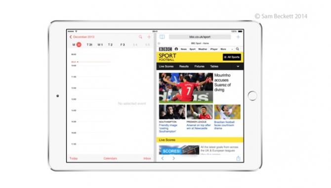 Apple arbejder på split-screen multitasking til iOS 8
